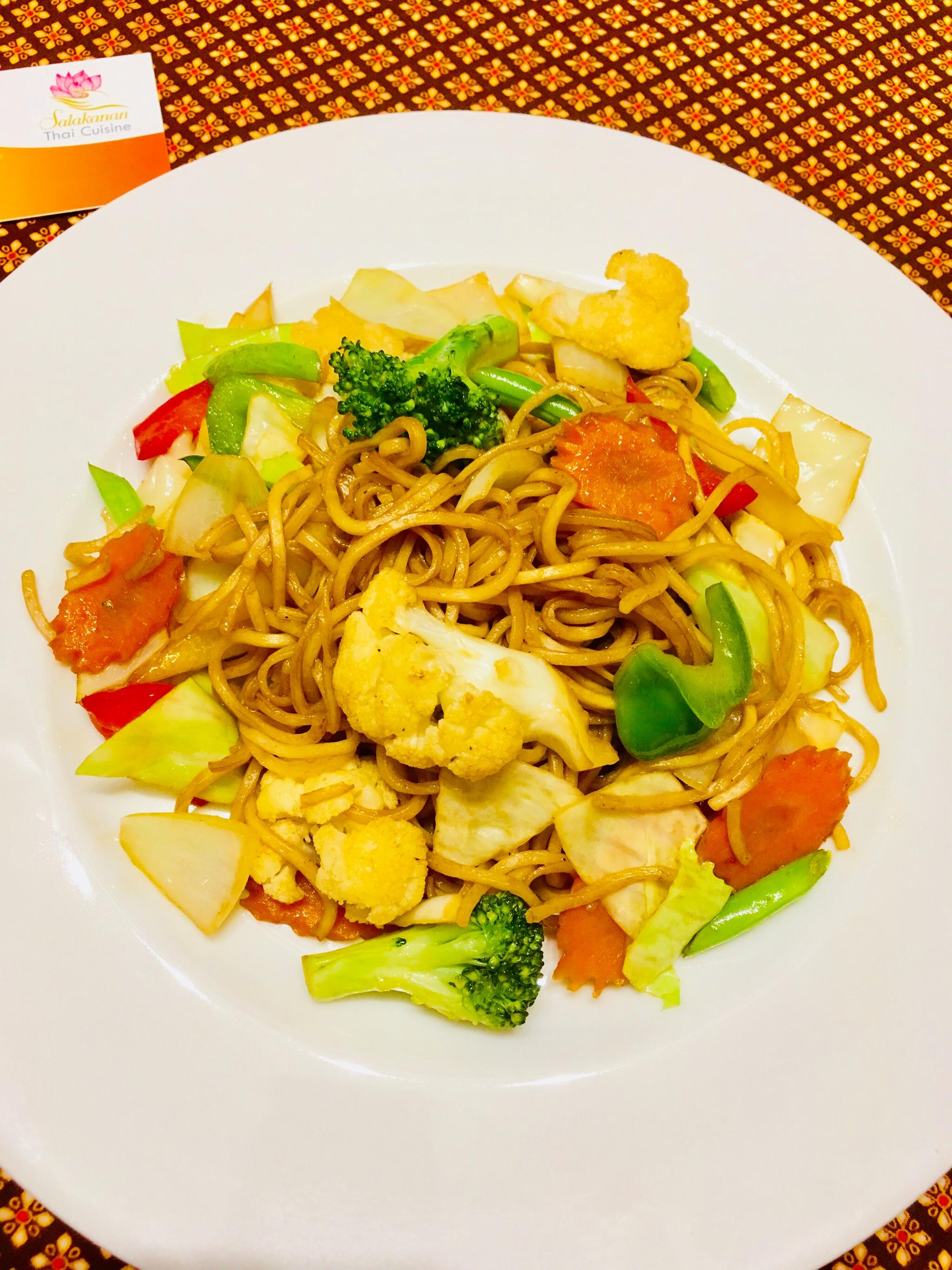 Yakisoba vegetarian Salakanan Thai Restaurant Offenburg