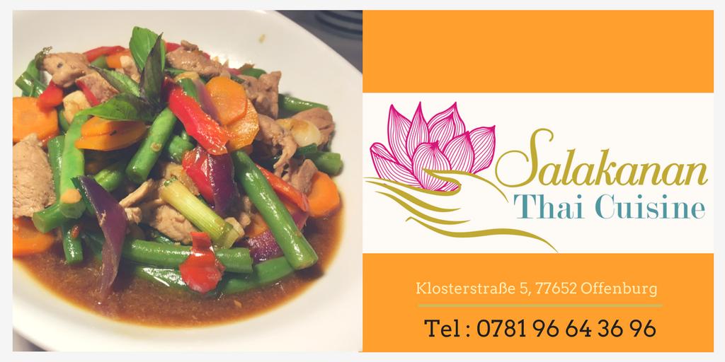 Salakanan Thai Cuisine Offenburg promotion thai thai