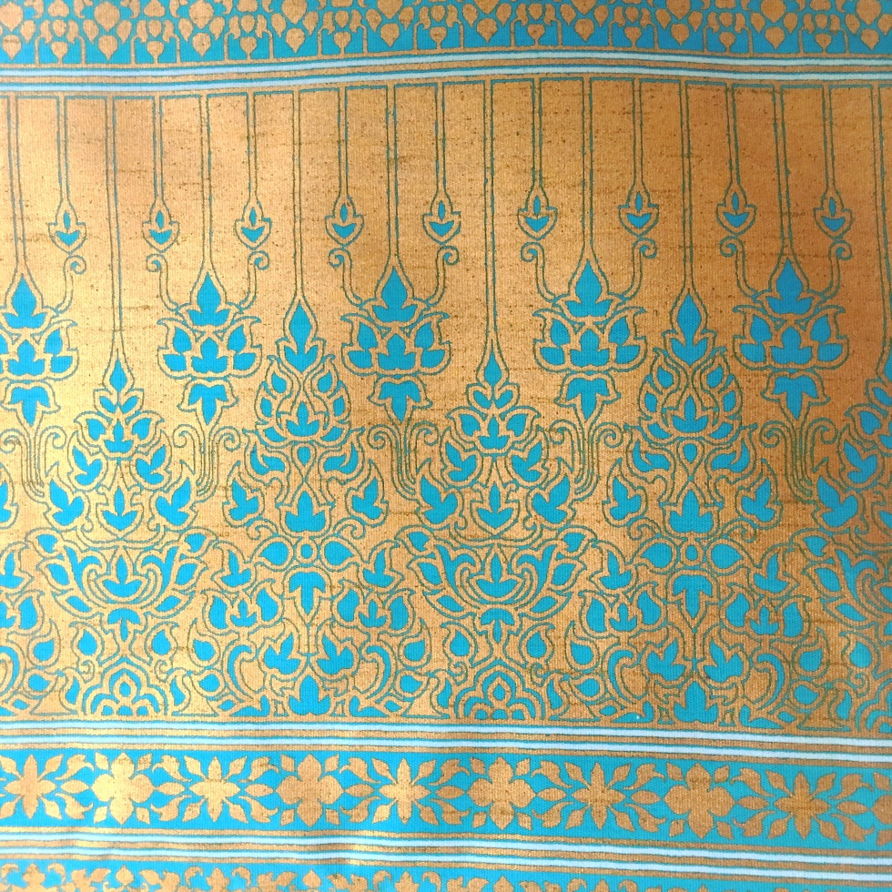 SALAKANAN INTERTRADE THAI OFFENBURG gold blue pink cloth